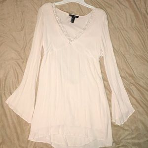 Forever 21 flowy cream colored dress